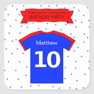 Custom name and text 10th birthday square sticker