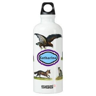 Custom Name - Animal Water Bottle