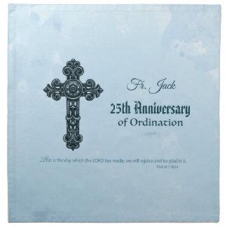 Custom Name & Anniversary Year Ordination, Priest Napkin