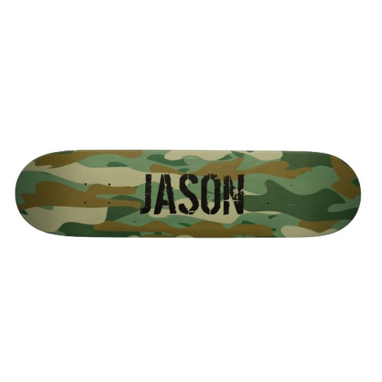Custom name armo camo camouflage skateboard deck