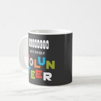 Custom Name, Awesome Volunteer Appreciation Coffee Mug