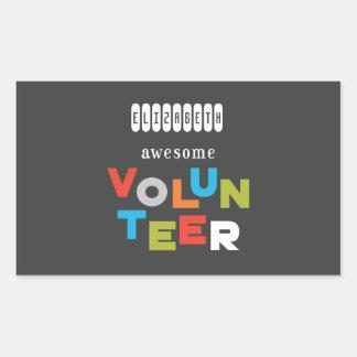 Custom Name, Awesome Volunteer Appreciation Sticker