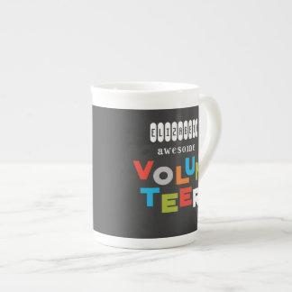Custom Name, Awesome Volunteer Appreciation Tea Cup