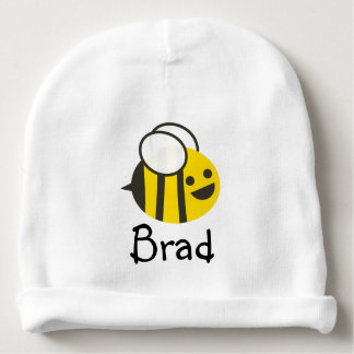 Custom Name Babie Bee Beanie Baby Beanie