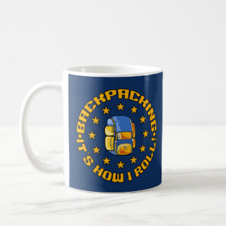 Custom name BACKPACKING mugs