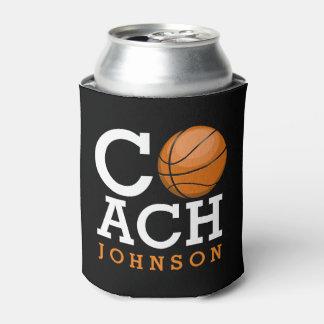 Custom Name Basketball Coach Can Cooler