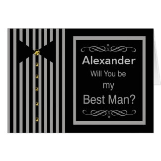 Custom Name - Be My Best Man Request Card