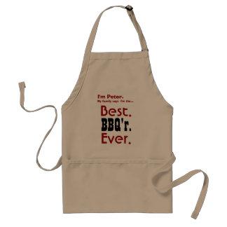 Custom Name Best BBQ Ever V05 Standard Apron