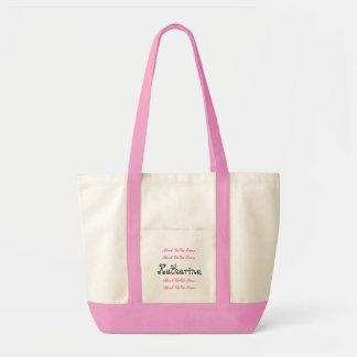 Custom Name Best Gigi Ever Pink Black Script Tote Bag