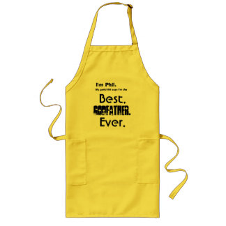 Custom Name Best Godfather Ever Aprons