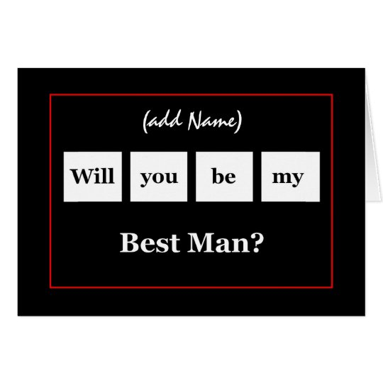 Custom Name - BEST MAN Squares Wedding Invitation