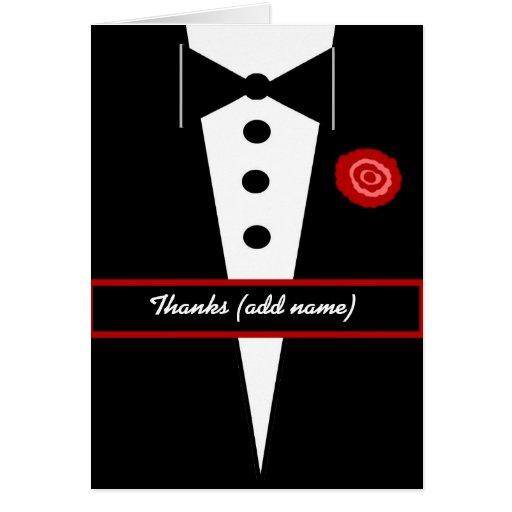 CUSTOM NAME Best Man Wedding Thank You Greeting Card