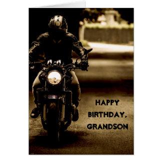 Custom Name - Birthday for Boy - Motorcycle Card