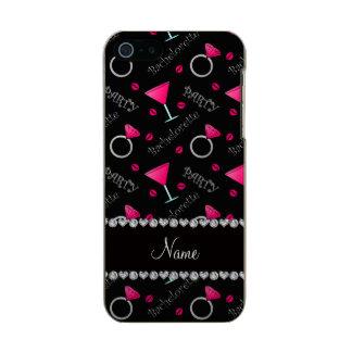 Custom name black bachelorette cocktails rings incipio feather® shine iPhone 5 case