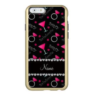 Custom name black bachelorette cocktails rings incipio feather® shine iPhone 6 case