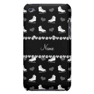 Custom name black skates and hearts barely there iPod cover
