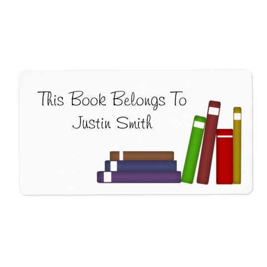 Custom Name Book Label Shipping Label