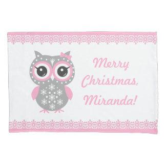 Custom Name Christmas Girl Pillowcase, Reversed Pillowcase