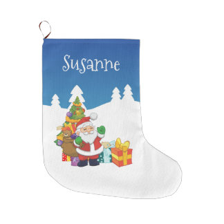 Custom Name Christmas Santa Large Christmas Stocking