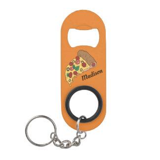 Custom Name & Color Pizza Slice bottle opener Mini Bottle Opener