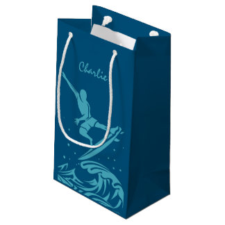 Custom name & color Surfer gift bag