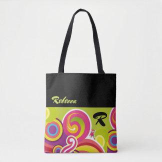 Custom Name | Colorful Circles Gift Tote Bags