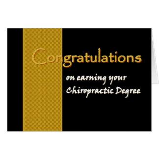 CUSTOM NAME Congratulations - Chiropractic Degree Card