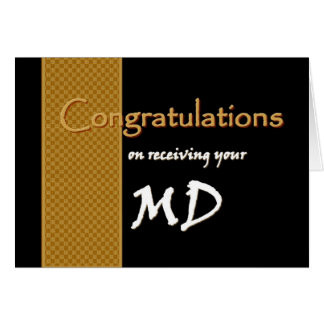 CUSTOM NAME Congratulations - M.D. Card