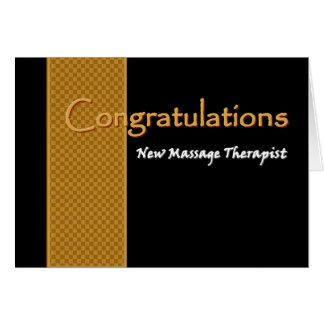 CUSTOM NAME Congratulations - Massage Therapist Card