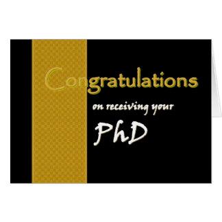CUSTOM NAME Congratulations - PhD Card