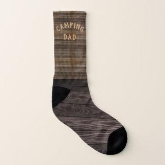 Custom Name Dad Funny Wood Camping Socks