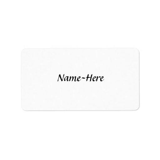 Custom name design, with a script font.