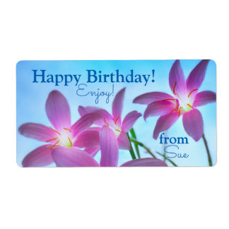 Custom Name Enchanting Fairy Lily Gift Labels