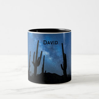 Custom Name Epic Milky Way Night Sky Desert Mug