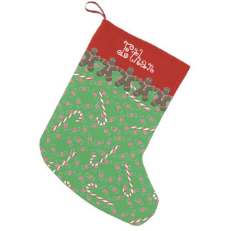 Custom Name Ethan Gingerbread Men Holiday Small Christmas Stocking