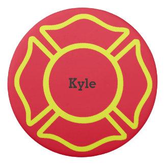Custom Name Firefighter Eraser