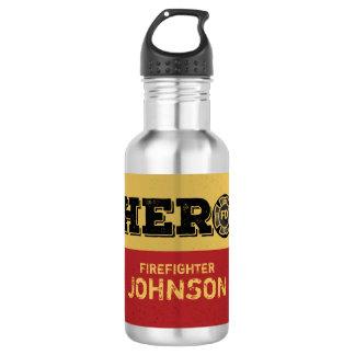 Custom Name, Firefighter Hero 532 Ml Water Bottle