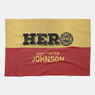 Custom Name, Firefighter Hero Kitchen Towel