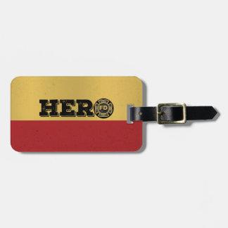 Custom Name, Firefighter Hero Luggage Tag