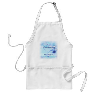 Custom Name, First Wedding Anniversary Sparkle Standard Apron