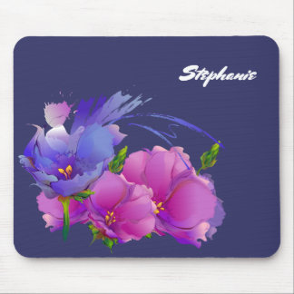 Custom Name Floral Mother's Day Gift Mousepads