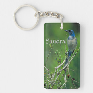 Custom Name Florida Scrub Jay Keychain