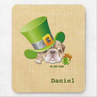 Custom Name Fun St. Patrick's Day Gift Mousepads