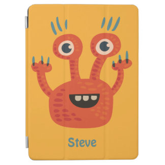 Custom Name Funny Big Eyed Smiling Cute Monster iPad Air Cover