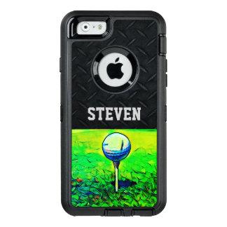 Custom Name Golfing Diamond Plate Case