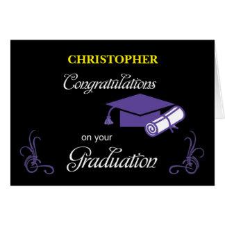Custom Name Graduation Congratulations Card
