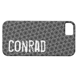 Custom Name  Gray Geometric G604 iPhone 5 Covers