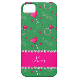 Custom name green bachelorette cocktails rings iPhone 5 cover