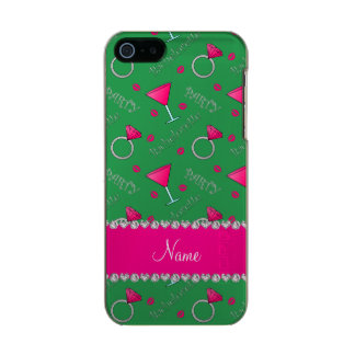 Custom name green bachelorette cocktails rings incipio feather® shine iPhone 5 case