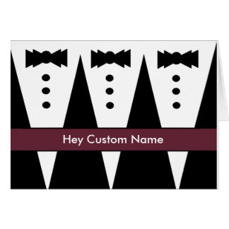 CUSTOM NAME Groomsmen Invitation Three Tuxedos